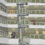 Danny Mooney 'Sussex Coast College atrium' 10/2/2014 Digital painting