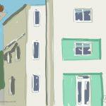 Danny Mooney 'White Rock Hotel' 24/2/2014 Digital painting
