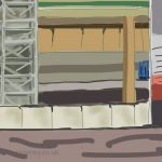 Danny Mooney 'H&M Priory Meadows 26/2/2014' Digitial painting