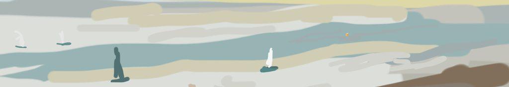 Danny Mooney 'Sailing 23/3/2014' Digital painting