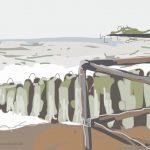 Danny Mooney 'Stormy sea, bright sun 27/2/2014' Digital painting