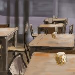 Danny Mooney 'Shop Café, 7/4/2014' Digital painting