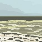 Danny Mooney 'Choppy Sea, 10/5/2014' iPad painting