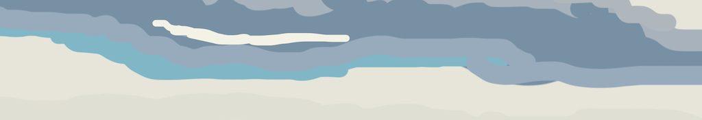 Danny Mooney 'Amazing sky, 4/6/2014' iPad painting