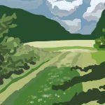 Danny Mooney 'Path, 22/6/2014' iPad painting #APAD