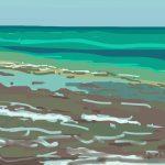 Danny Mooney 'Pett Level, 27/6/2014' iPad painting