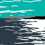 Danny Mooney 'Grey Beachy Head, 15/7/2014' iPad painting #APAD
