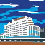 Danny Mooney 'Marine Court, 14/7/2014' iPad painting #APAD