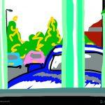 Danny Mooney 'McDonald's car park, 6/7/2014' iPad painting #APAD