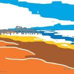 Danny Mooney 'Pier, 16/7/2014' iPad painting #APAD