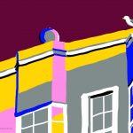 Danny Mooney 'Seagull, 9/7/2014' iPad painting #APAD