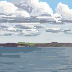 Danny Mooney 'Bedroom view, Scarborough Fair, 27/7/2014' iPad drawing #APAD