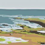 Danny Mooney 'Rockpools, 30/7/2014' iPad drawing #APAD
