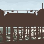 Danny Mooney 'Hastings Pier, 3/9/2014' iPad drawing #APAD