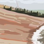 Danny Mooney 'Beach, 30/9/2014' iPad painting #APAD