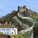 Danny Mooney 'Cliff lift, 18/10/2014' iPad painting #APAD