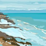 Danny Mooney 'Low tide, blue sea, 5/10/2014' iPad painting #APAD