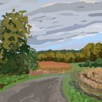 Danny Mooney 'Fields, Fautrel, 25/10/2014' iPad painting #APAD
