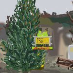 Danny Mooney 'Hastings Christmas tree, 19/11/2014' iPad painting #APAD