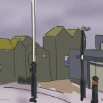 Danny Mooney 'Jerwood and Net huts, 13/11/2014' iPad painting #APAD