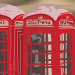 Danny Mooney 'Phone boxes, 7/11/2014' iPad painting #APAD