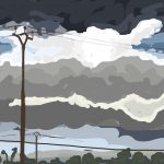 Danny Mooney 'Power lines and clouds, 22/10/2014' iPad painting #APAD