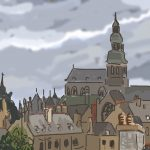 Danny Mooney 'Rooves, Dinan, 23/10/2014' iPad painting #APAD