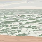 Danny Mooney 'Rough seas, 11/11/2014' iPad painting #APAD