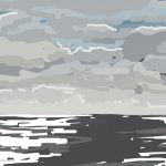 Danny Mooney 'Slate grey sea, 19/10/2014' iPad painting #APAD