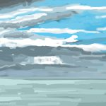 Danny Mooney 'Blue and grey sky,14/2/2015' iPad painting #APAD