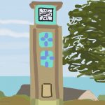 Danny Mooney 'Clock Tower, Falaise, 18/2/2015' iPad painting #APAD