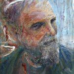 Danny Mooney 'Jeff' Mixed media 38 x 30 cm