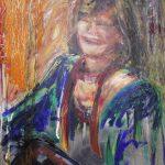 Danny Mooney 'Madeline' Oil on stainless steel panel 51 x 36 cm