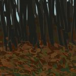 Danny Mooney 'From the train, 21/2/2015' iPad painting #APAD