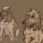 Danny Mooney 'Jarvis and Joe, 14/3/2015' iPad painting #APAD