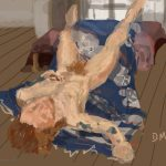 Danny Mooney 'Naked Sunday, 3/5/2015' iPad painting #APAD