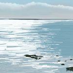 Danny Mooney 'Morning rocks, 8/6/2015' iPad painting #APAD