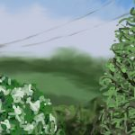 Danny Mooney 'Parallax, 17/6/2015' iPad painting #APAD