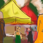 Danny Mooney 'St Leonards Market, 6/6/2015' iPad painting #APAD