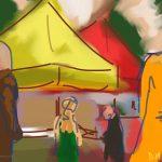 Danny Mooney 'St Leonards Market, 6/6/2015' iPad painting #APAD