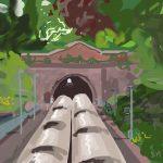 Danny Mooney 'St Leonards Warrior Square, 11/6/2015' iPad painting #APAD