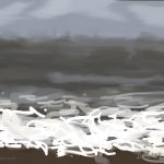 Danny Mooney 'Storm, 2/6/2015' iPad painting #APAD
