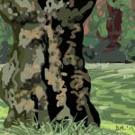 Danny Mooney 'Gnarly tree, 6/7/2015' iPad painting #APAD