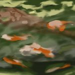 Danny Mooney 'Koi, 15/7/2015' iPad painting #APAD