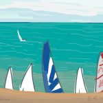 Danny Mooney 'Sailing club, 19/7/2015' iPad painting #APAD