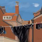 Danny Mooney 'Washing, 29/6/2015' iPad painting #APAD