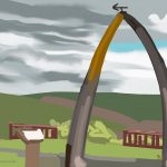 Danny Mooney 'Whalebone arch, 27/6/2015' iPad painting #APAD