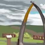Danny Mooney 'Whalebone arch, 27/6/2015' iPad painting #APAD