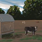 Danny Mooney 'Cows in the evening, 8/8/2015' iPad painting #APAD