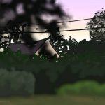 Danny Mooney 'Evening light, Fautrel, 6/8/2015' iPad painting #APAD